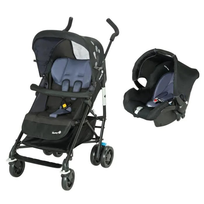 Poussette Safety First Naissance Safety 1st Poussette Combinée Duo Easy Way Black Sky