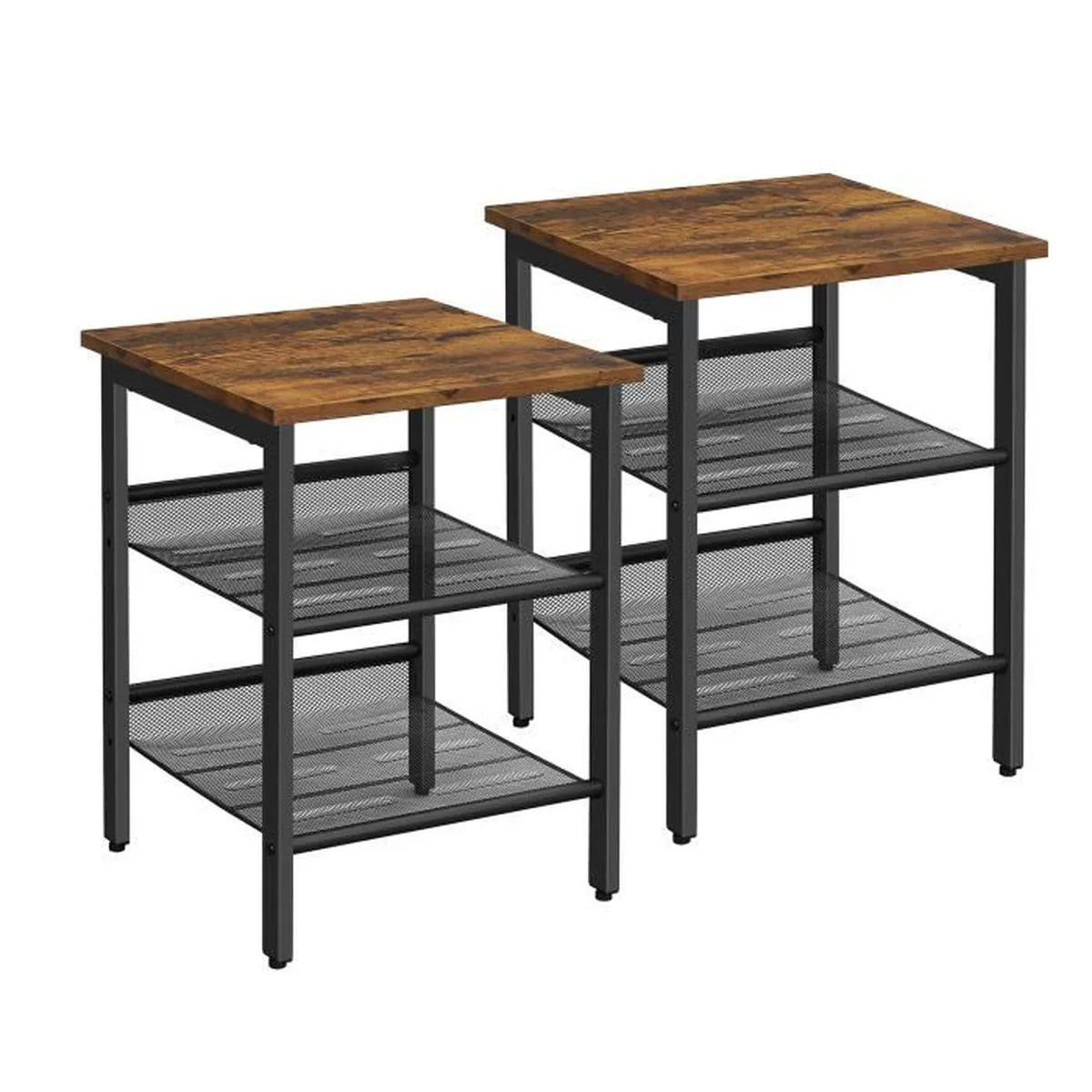 Table De Chevet Industriel Vasagle Lot De 2 Tables De Chevet Style Industriel Tables D Appint