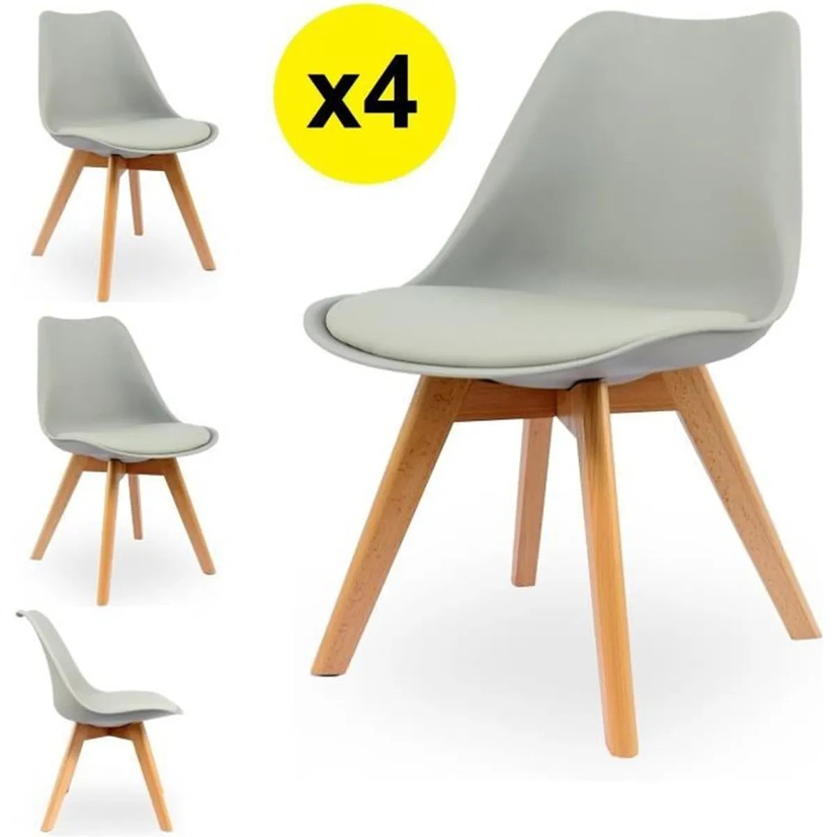 Chaises Scandinaves Couleur Chaise Scandinave Grise Achat Vente Chaise Scandinave