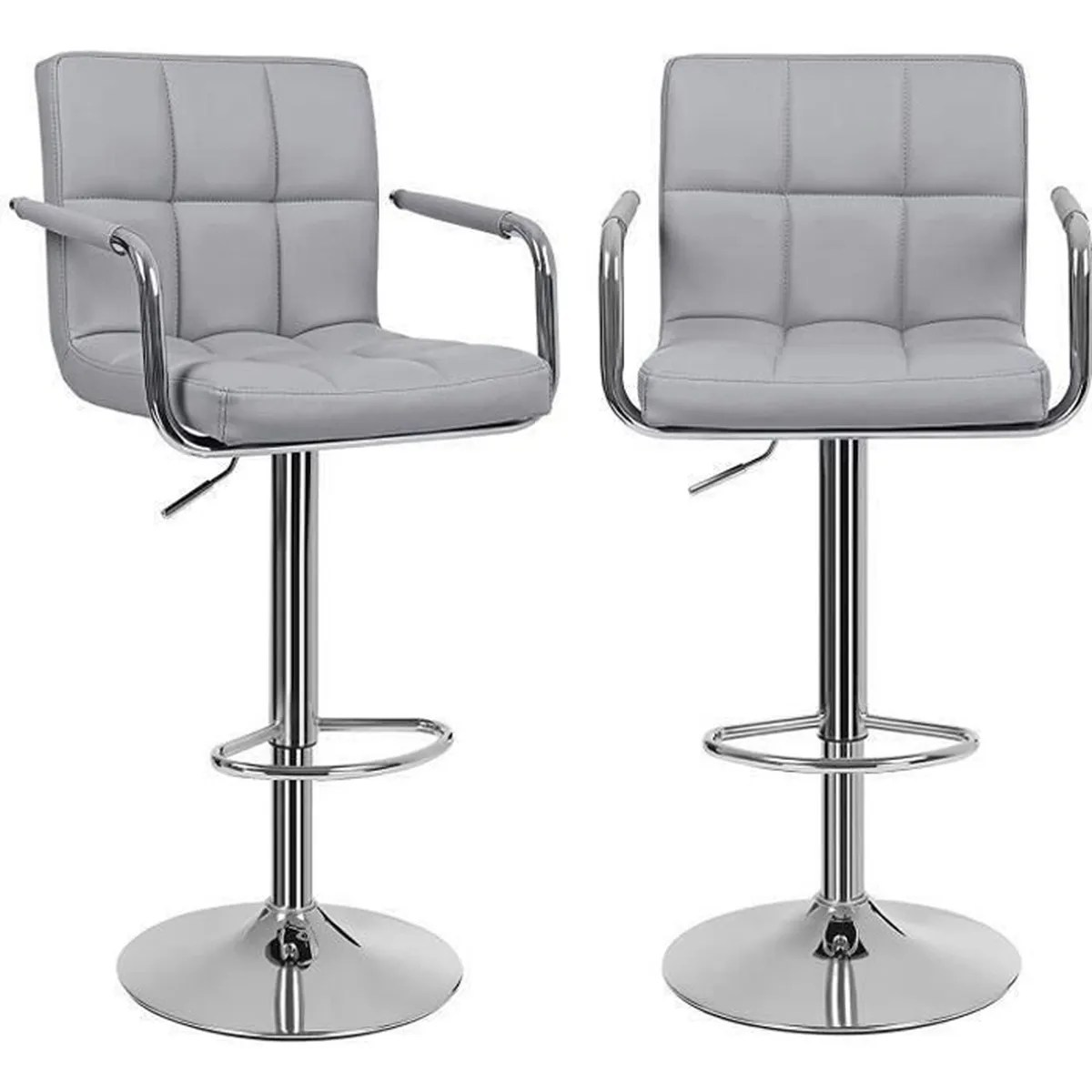 Songmics Lot De 2 Tabourets De Bar Stool Songmics Lot De 2 Tabourets De Bar Gris Haut Chaise De Bar Pu