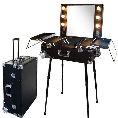 Miroir Maquillage Pas Cher Valise Studio Make Up Trolley, Table De Maquillage