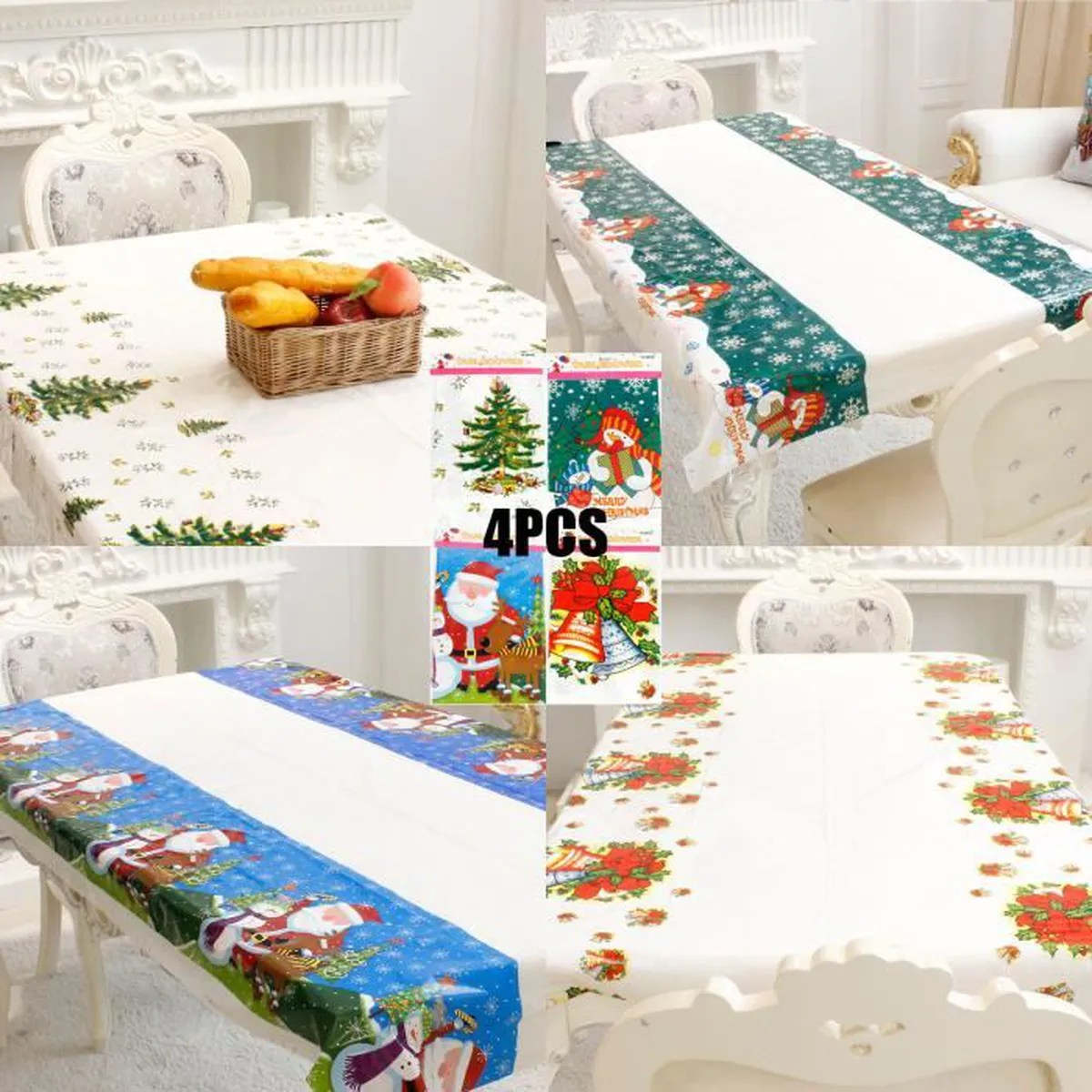 Decoration Nappe De Table Decoration Table Noel Nappe Achat Vente Pas Cher