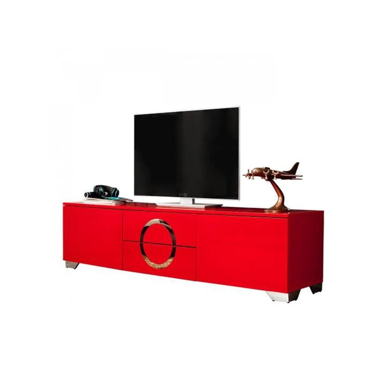 Meuble Tv Rouge Meuble Tv Design 180 Cm En Mdf Coloris Rouge Brillant Rouge