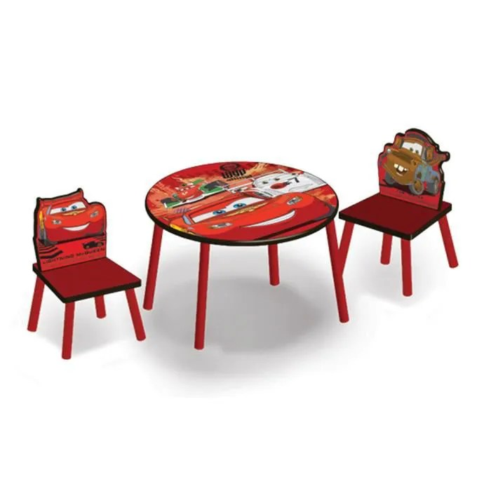 Table Et Chaise Cdiscount Table Ronde Et Chaises Cars Disney - Achat / Vente Table