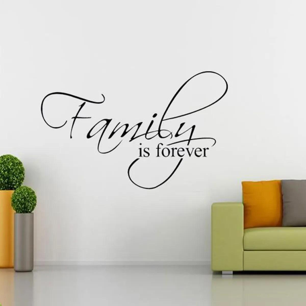 Decoration Lettre Murale Sticker Family Is Forever Autocollant Lettre Mural Amoriable Déco