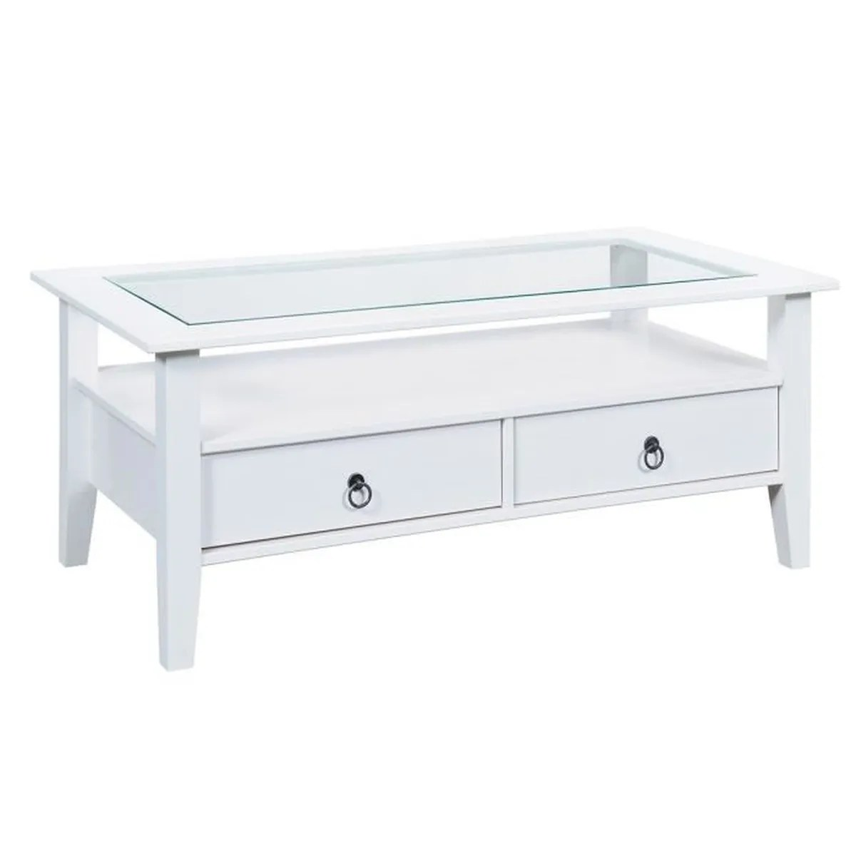 Table Basse Bois Blanc Natur Table Basse Rectangulaire Blanc Achat Vente