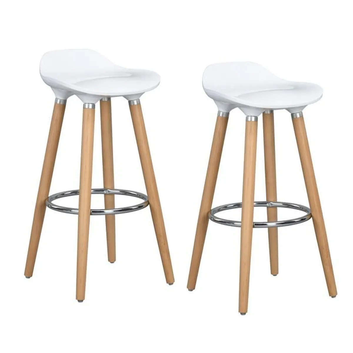 Tabourets De Bar Polycarbonate Furniturer Lot De 2 Tabourets De Bar Bistrot Chaises De