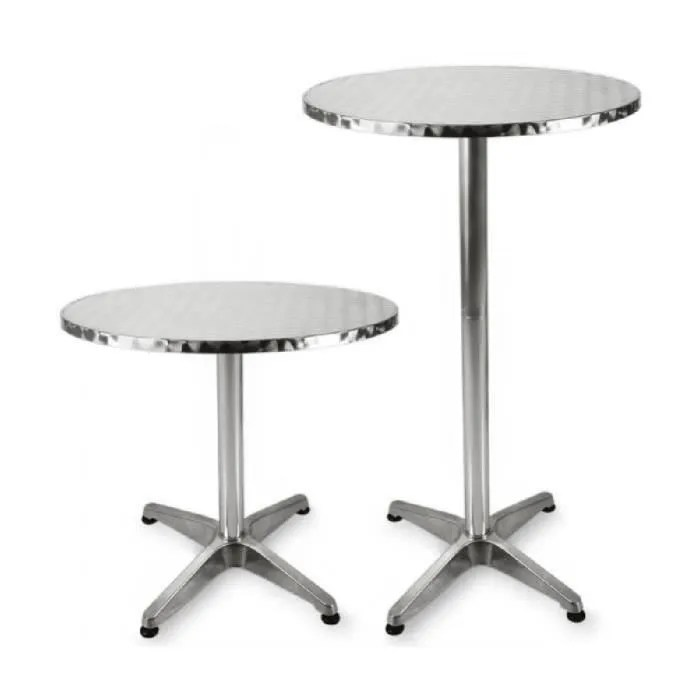 Table Haute Carrée 8 Personnes Superbe Table De Bar - Table Haute - Bistrot Aluminium