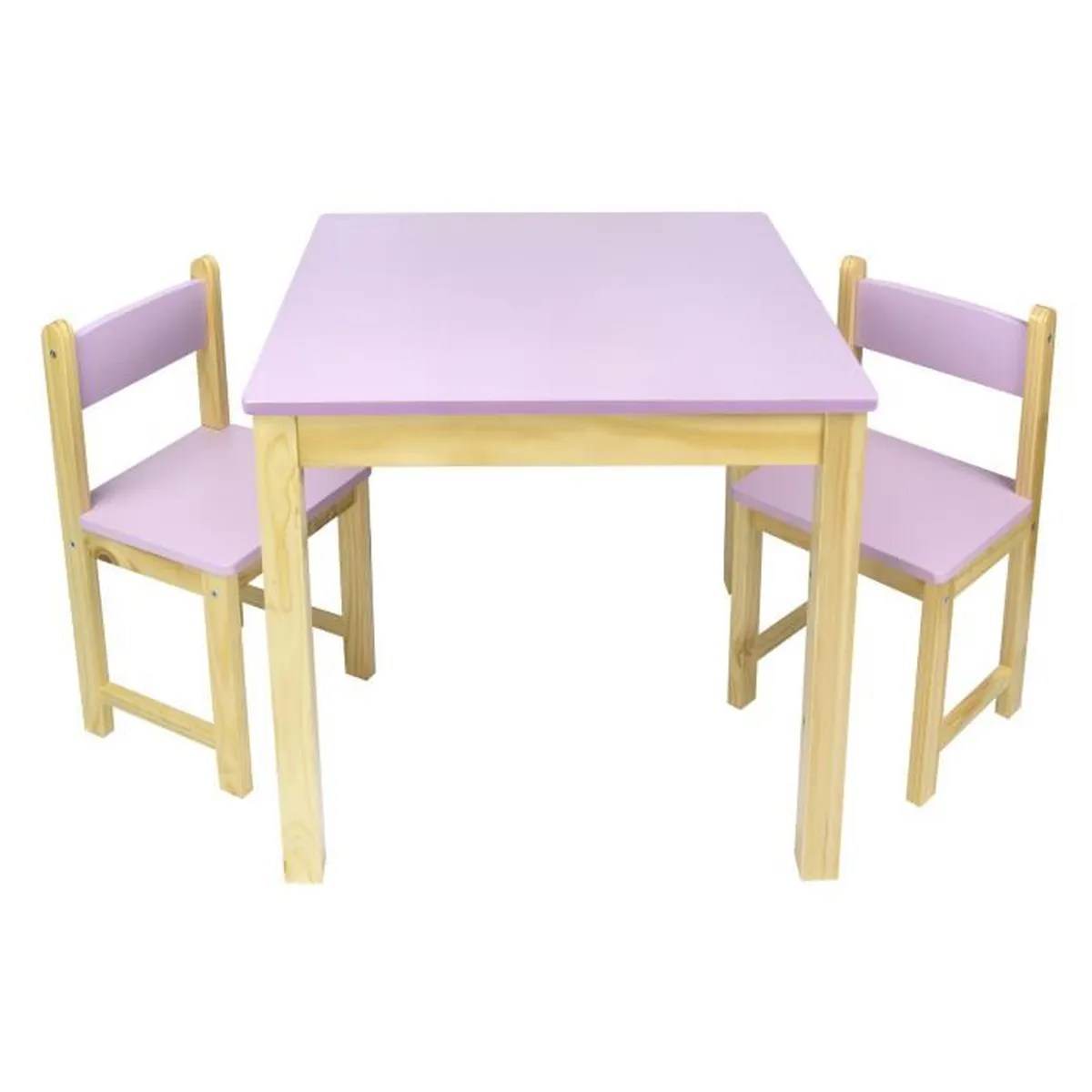 Table 2 Chaises Table Chaise Enfant Bois Achat Vente Table Chaise