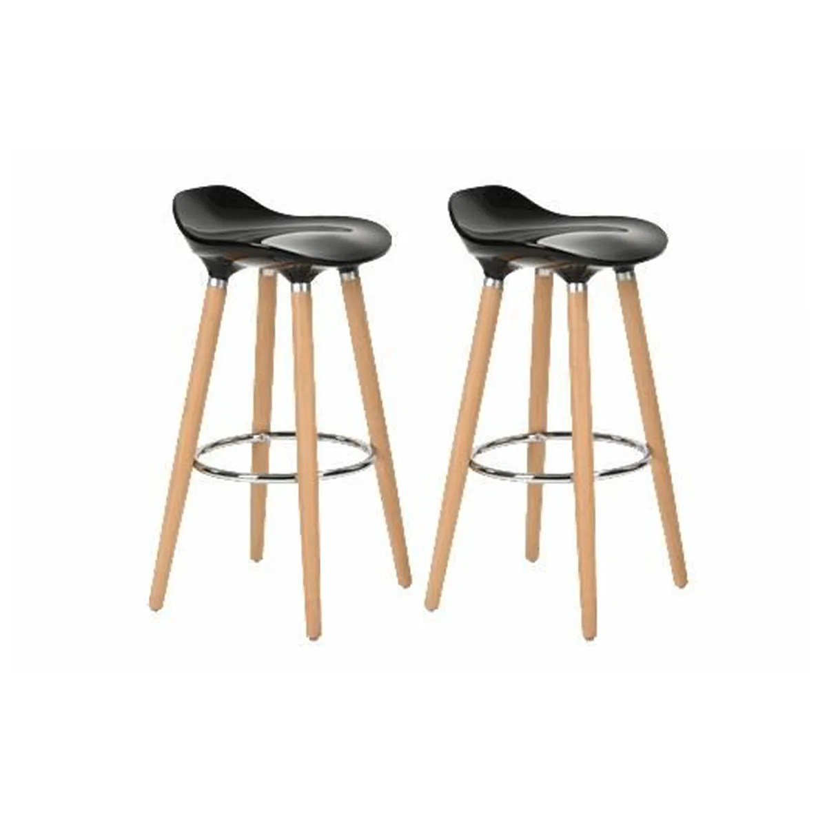 Tabourets Chaises Furniturer Lot De 4 Tabourets De Bar Cuisine Scandinaves Chaises