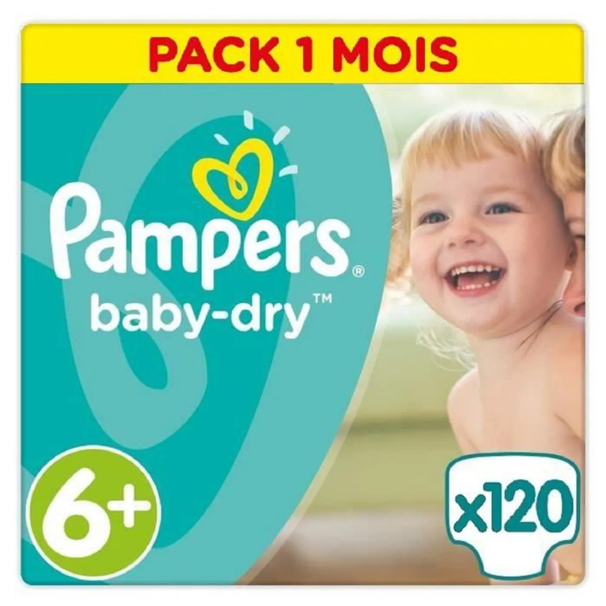 Couche Pampers Prix Pampers Baby Dry Taille 6 16kg 120 Couches Format Pack 1