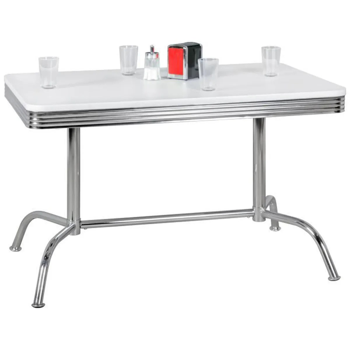 Table Bistrot Aluminium Wohnling Table à Manger Elvis 120 Cm American Dine