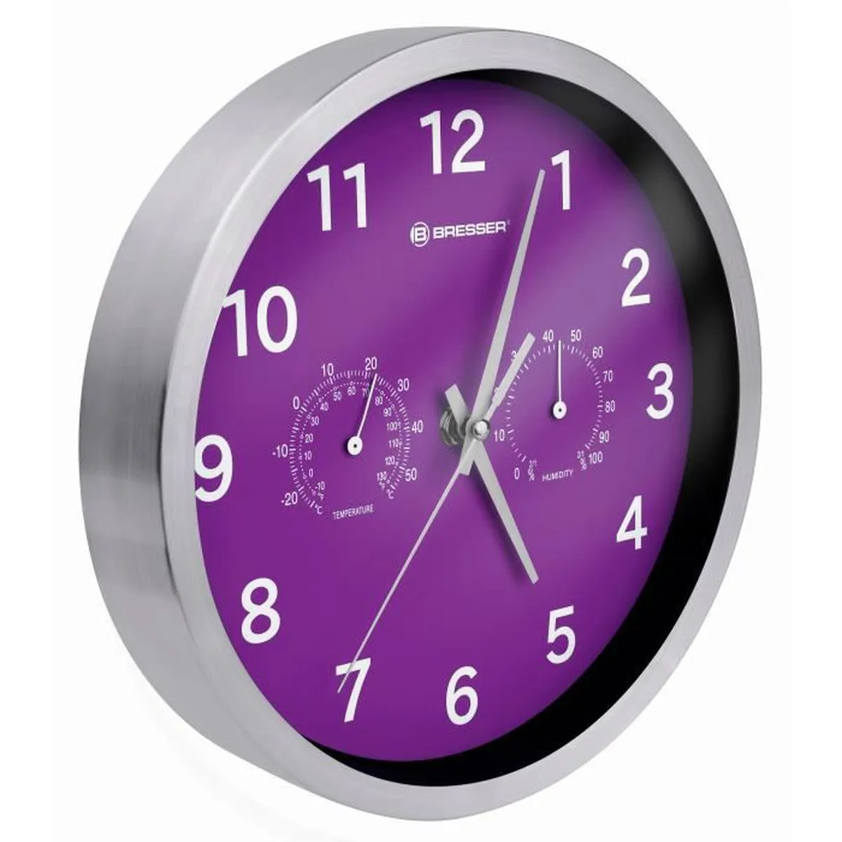 Horloge Murale Couleur Bresser Mytime Thermo Hygro Horloge Murale 25cm Couleur Violet