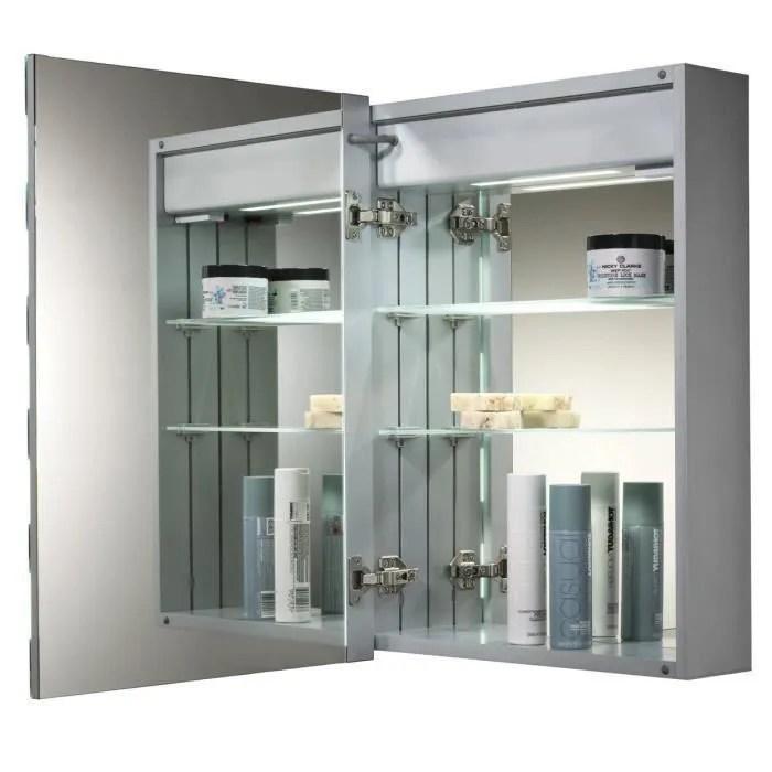 Armoire de toilette pour salle de bain avec miroir lumineux - Meuble Avec Miroir Pour Salle De Bain