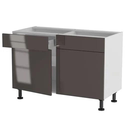 Meuble cuisine bas 120cm 2 tiroirs/portes 60*70\u2026 - Achat / Vente