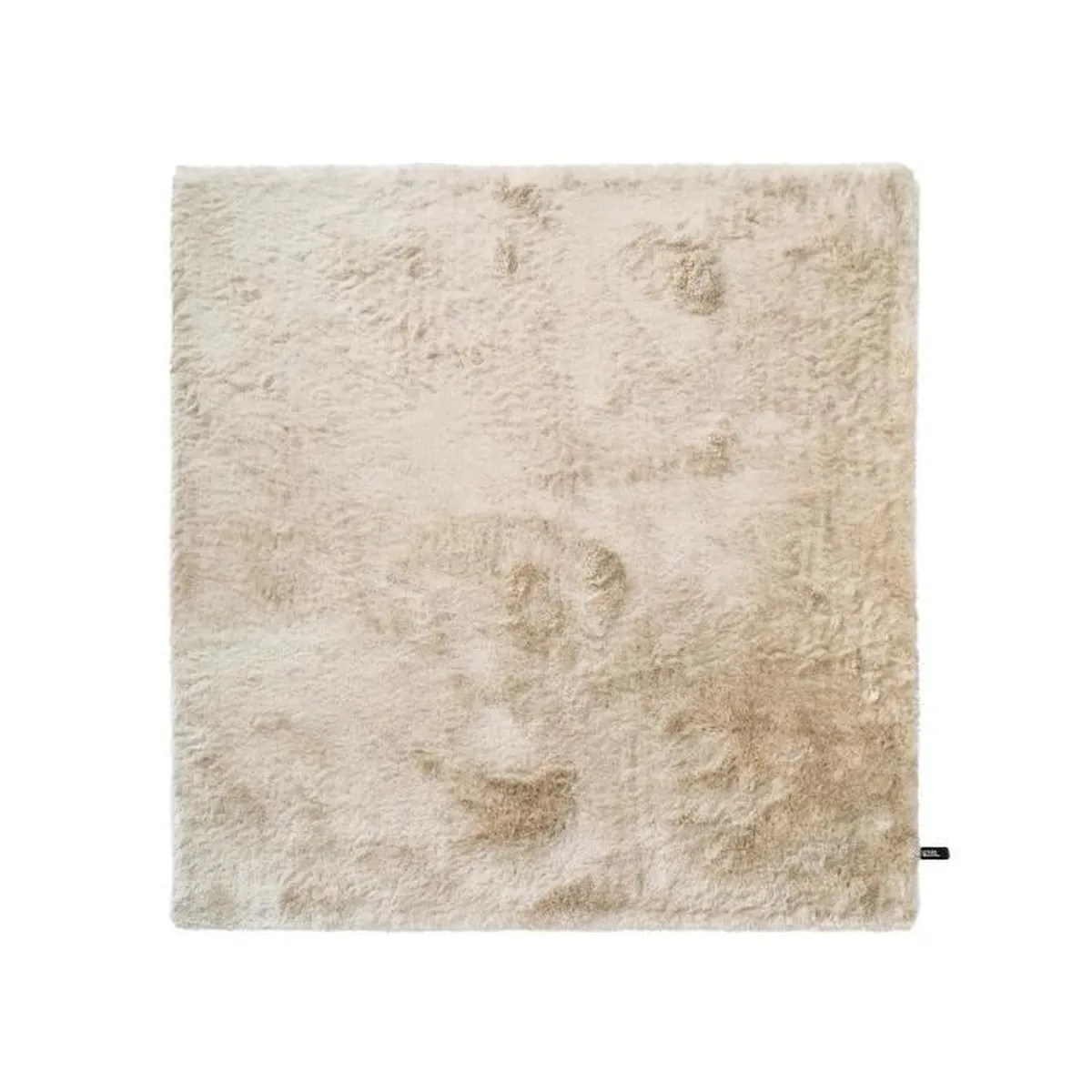 Tapis Salon Poil Long Tapis Shaggy à Poils Longs Whisper Beige 200x200 Cm