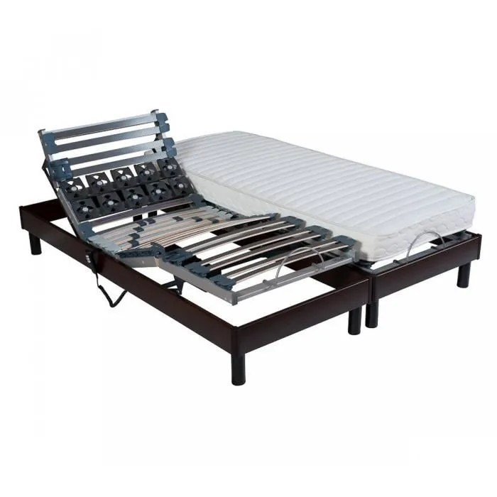 Camif Matelas Latex Lit Relaxation 2x80x200 – Table De Lit A Roulettes