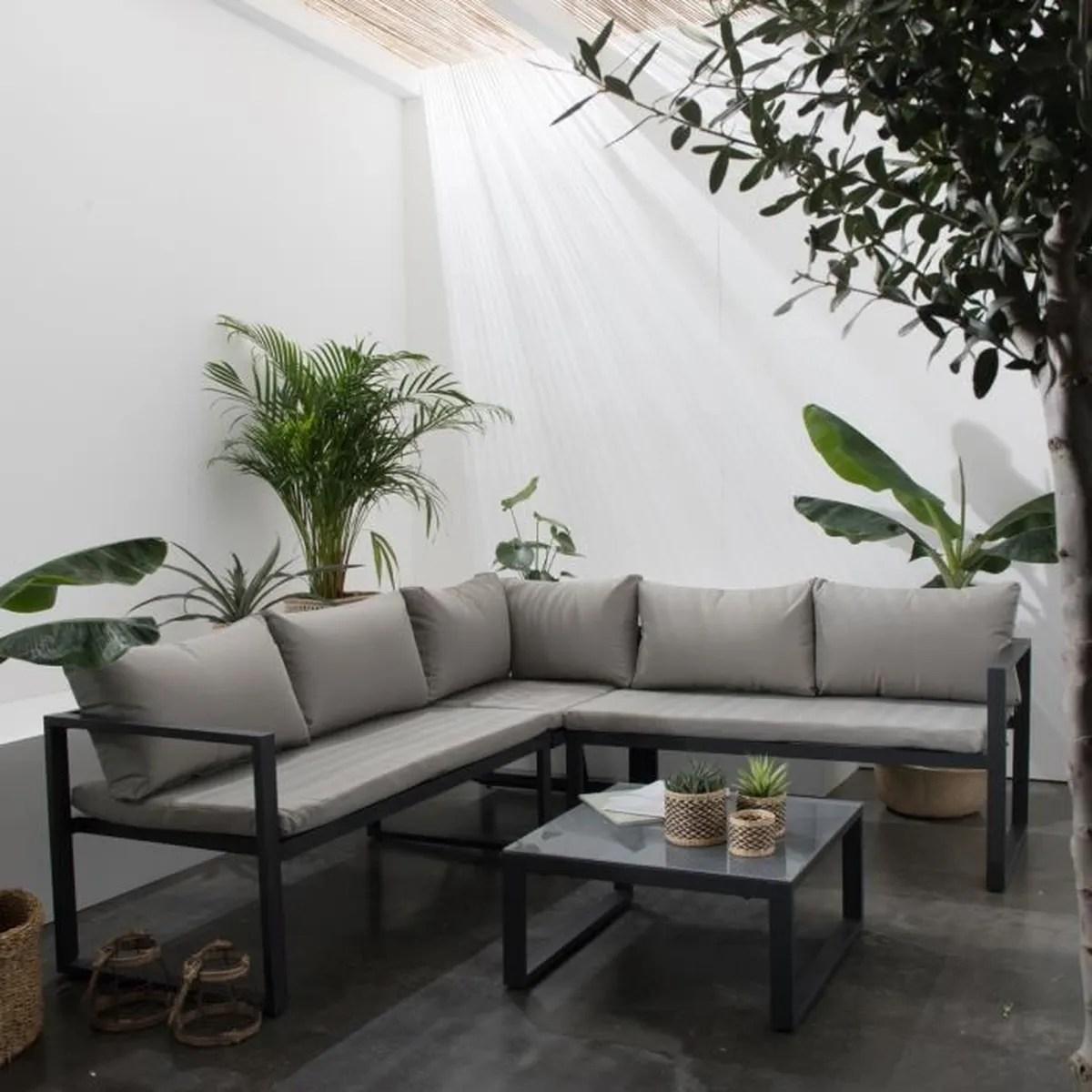 Salon De Jardin Blanc Design | Table Jardin Blanche Salon Jardin ...