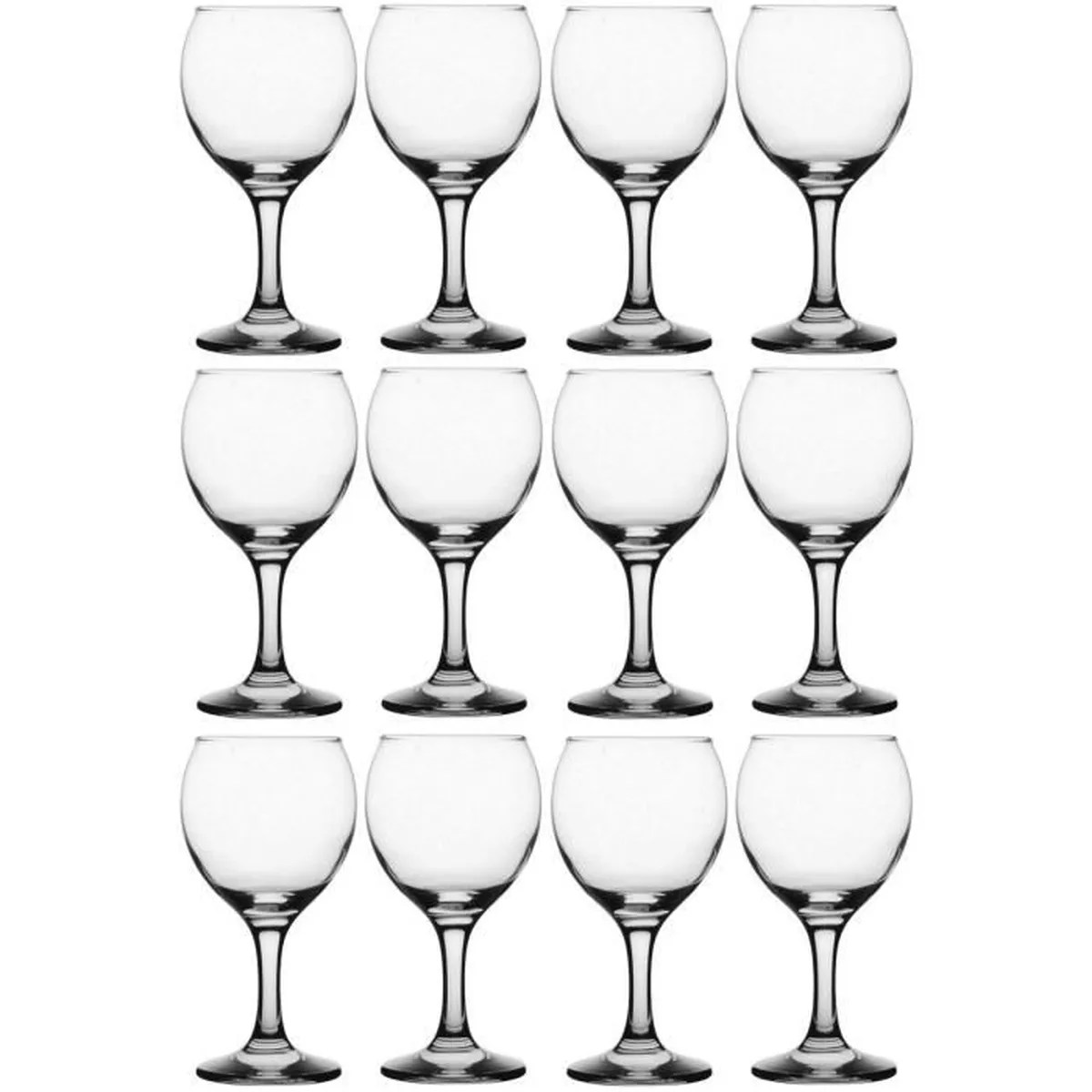 Photo De Verre De Vin Set Lot 12 Verre à Vin Ballon Sculpté 19 5cl Contenance Ideal