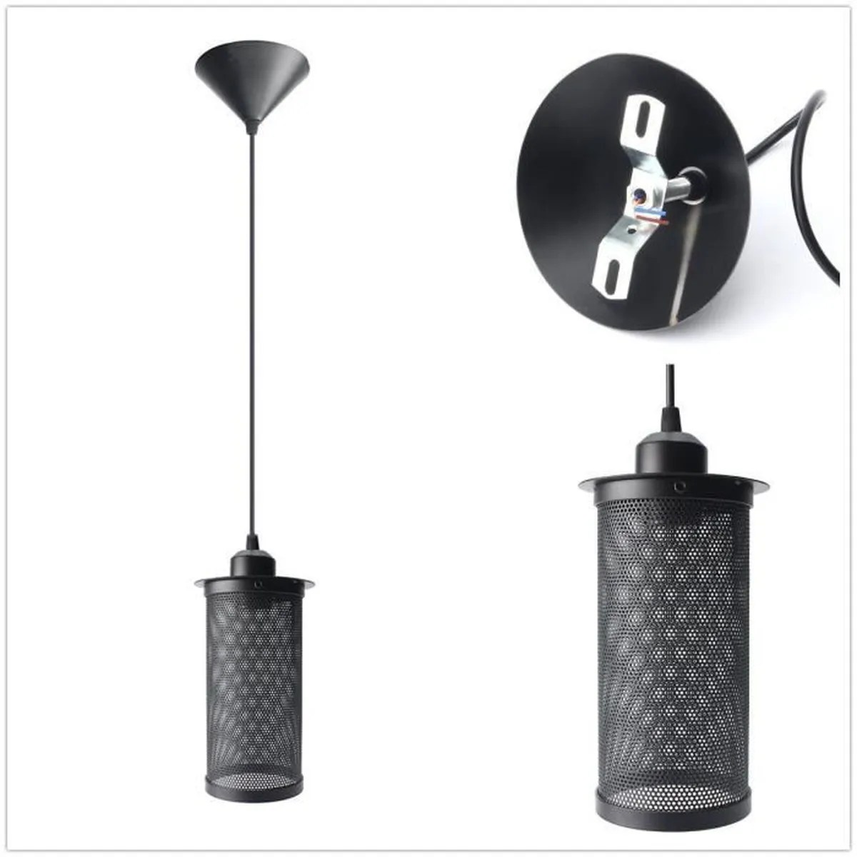 Lampe Suspension Style Industriel Lampe Suspension Abat Jour Avec Douille E27 Lustre
