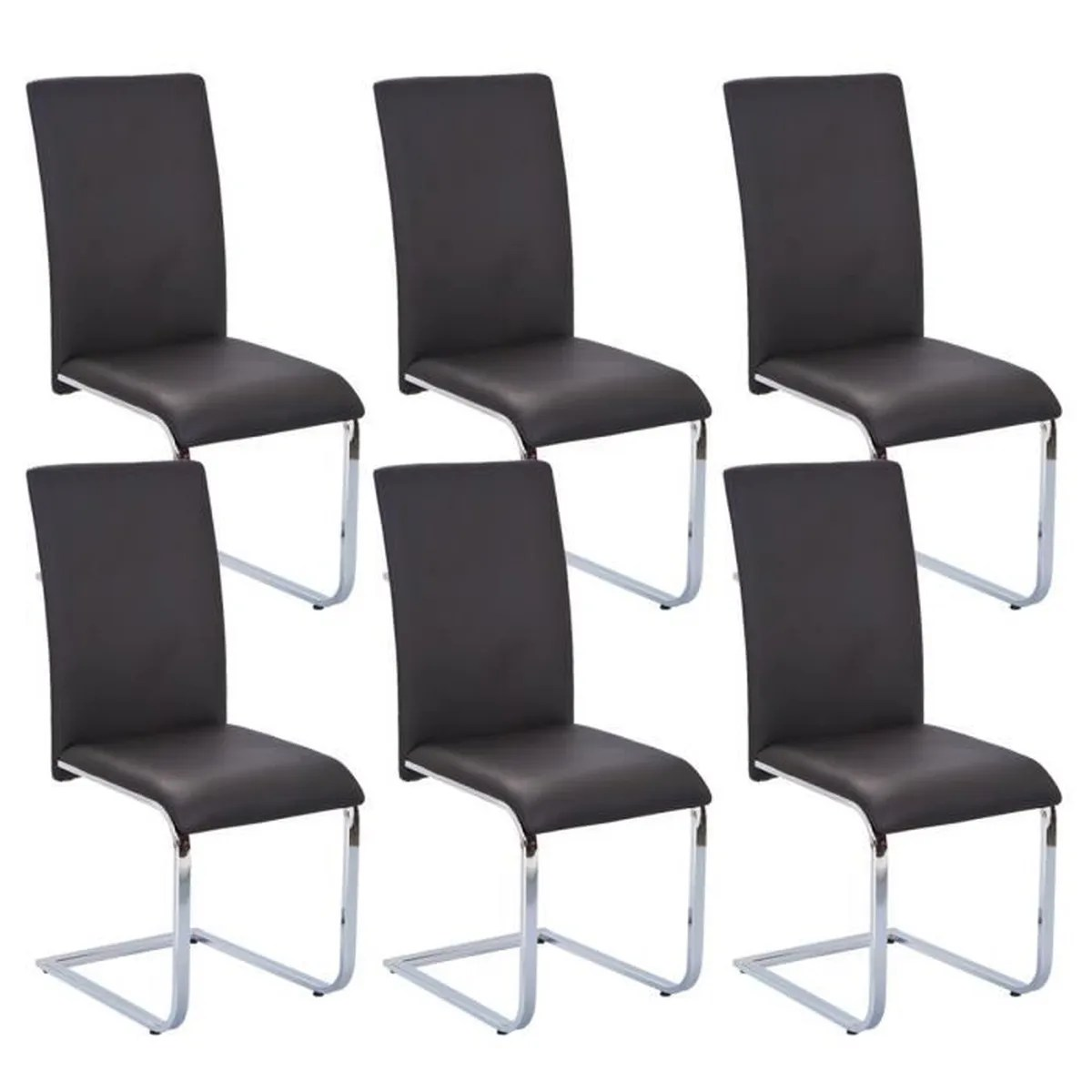 Lot De 6 Chaises Marron Lot De Chaises Par 6