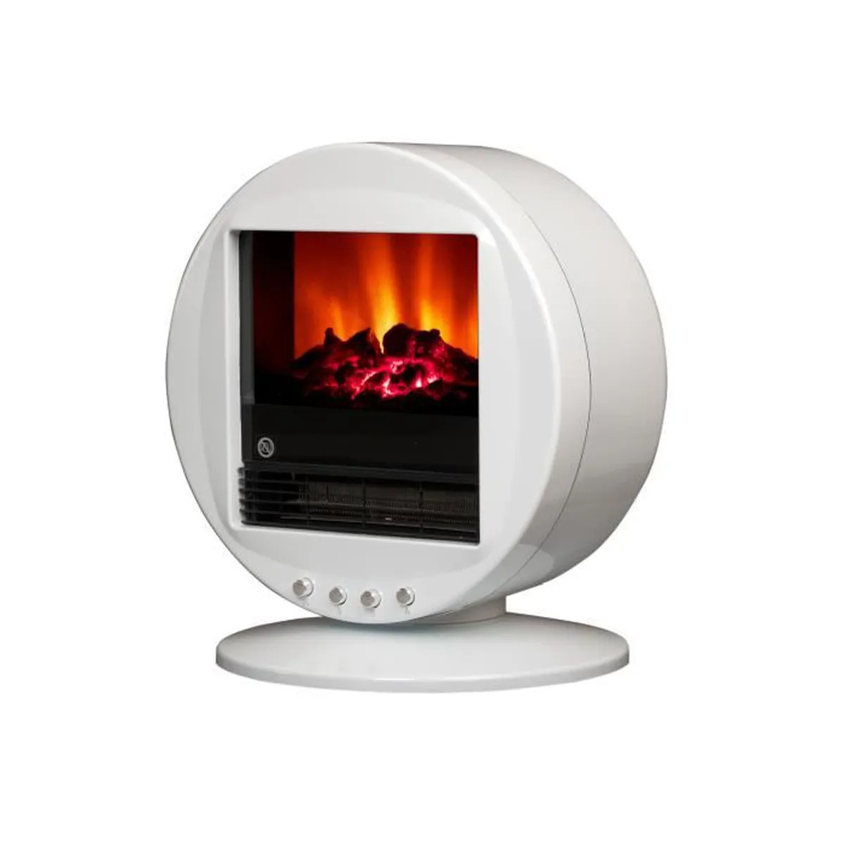 Cheminee Moderne Ronde Cheminee Electrique 70 S Blanche Ronde 2000w Leds Achat Vente