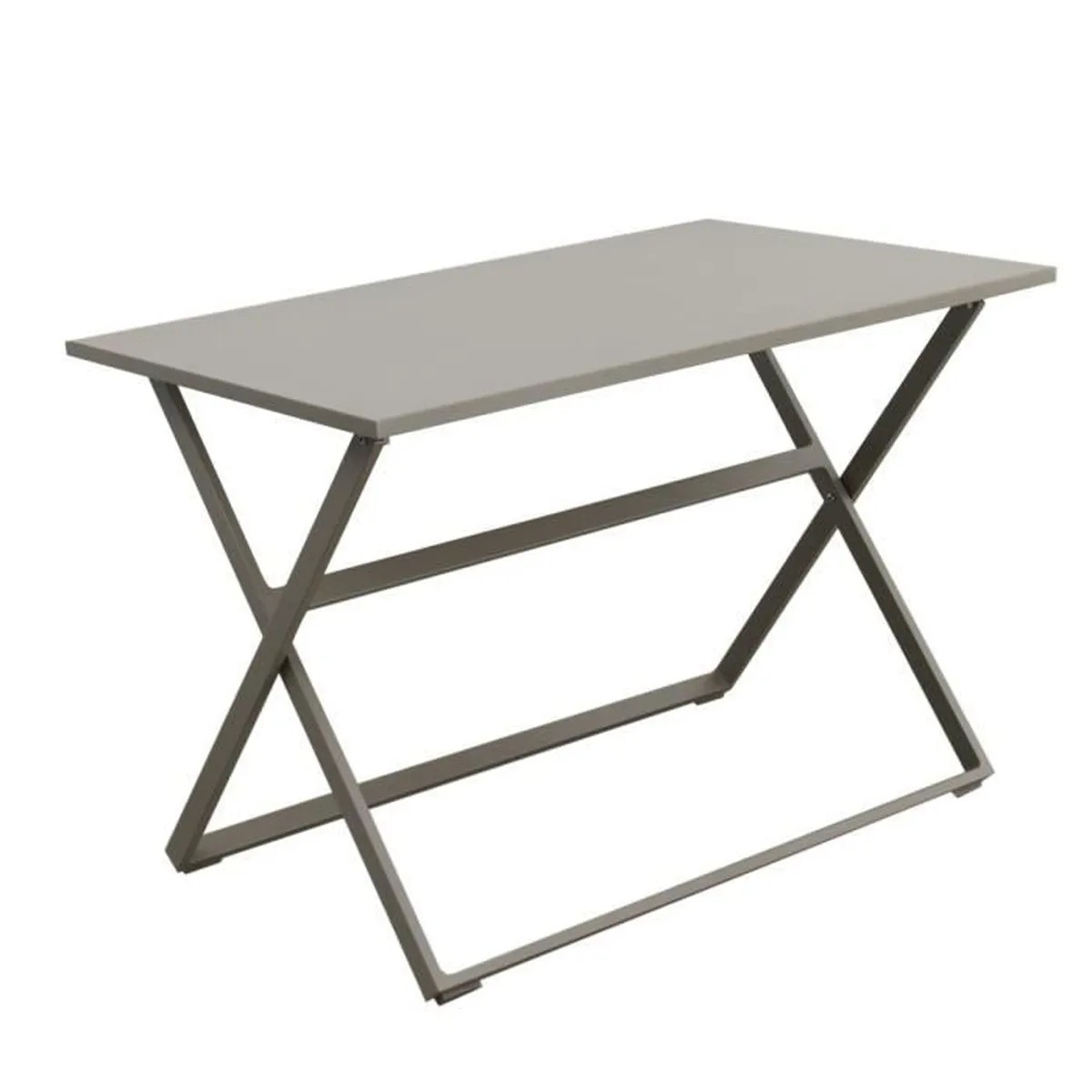 Table Aluminium Jardin Table De Jardin Pliable Rectangulaire En Aluminium Rosy Tresi Champagne