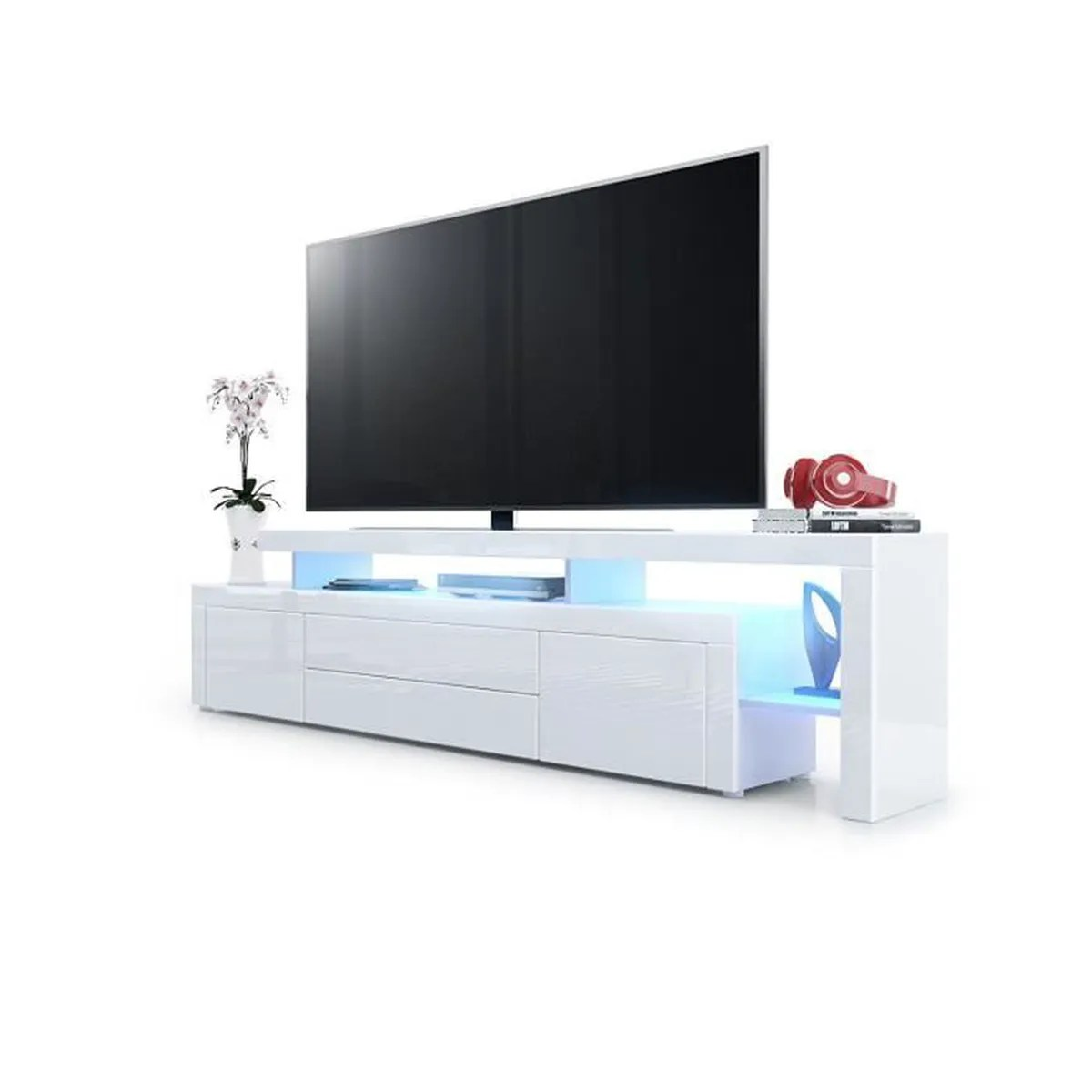 Meuble Blanc But But Meuble Tv Blanc Top Meuble Tv Escamotable Pas Cher