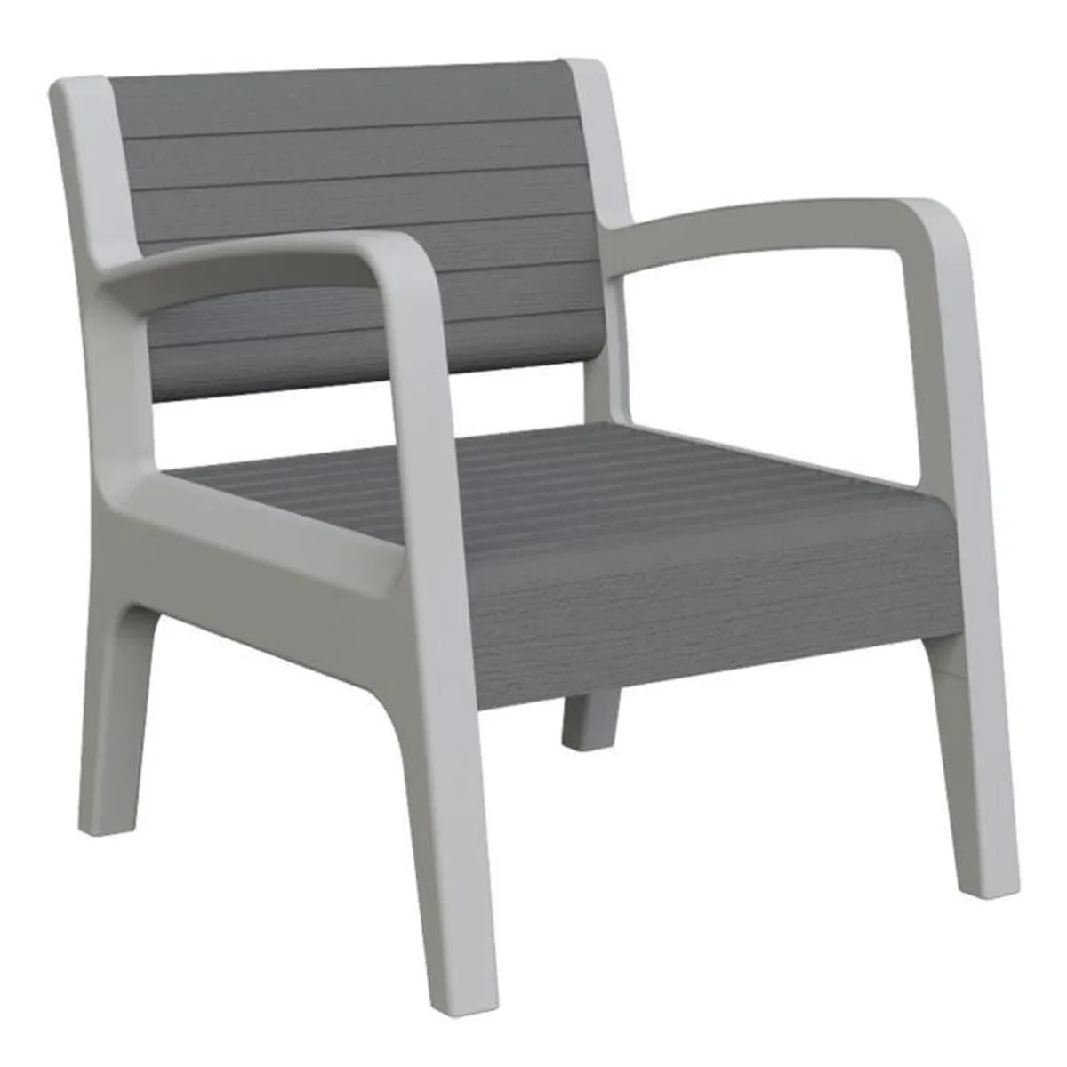 Ensemble Salon Complet Ensemble Miami Canapé 43 2 Fauteuils 43 1 Table Basse Gris