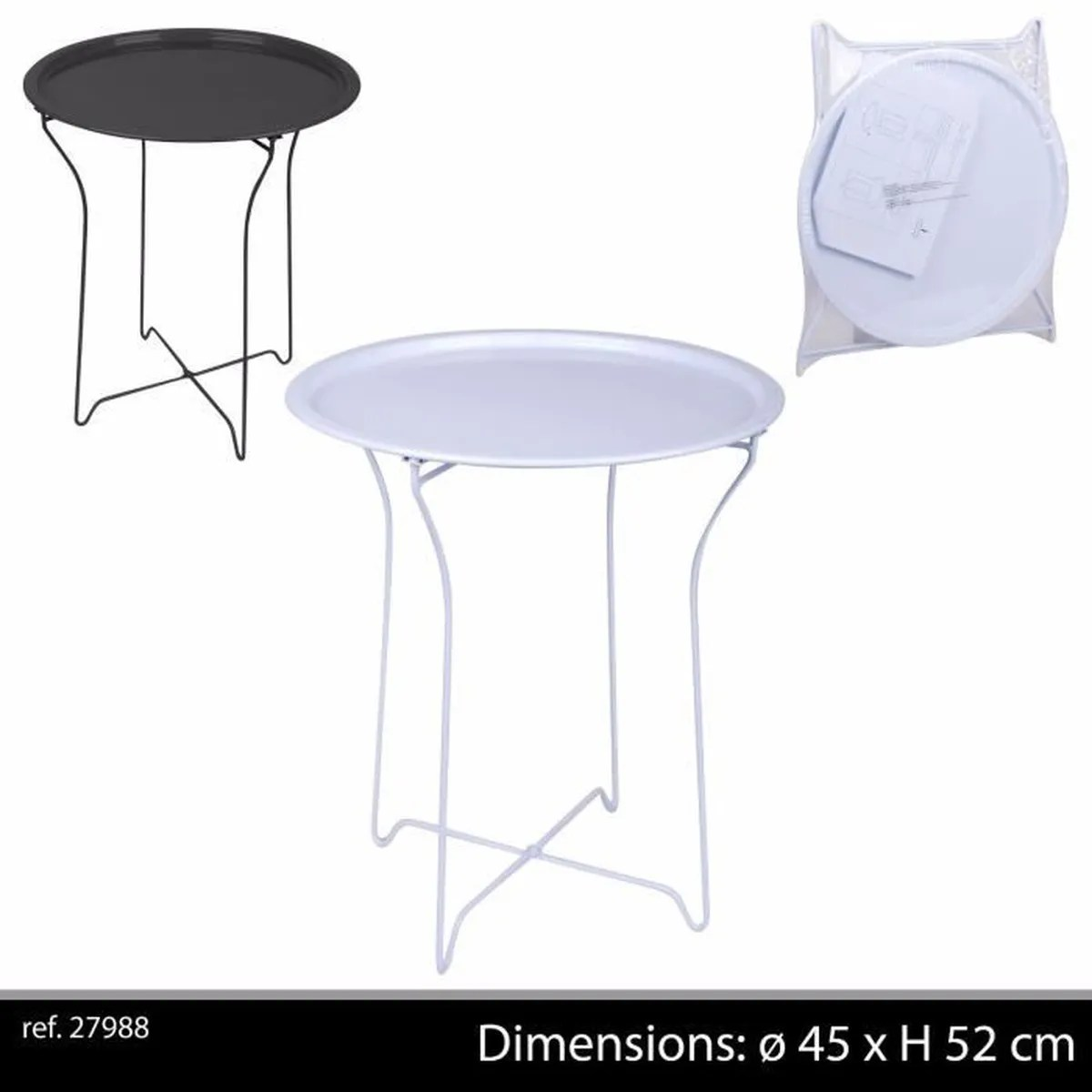 Tables Basses De Salon Pliantes Couleur Blanche Table Basse En Metal Bar Appoint Pliante Pliable