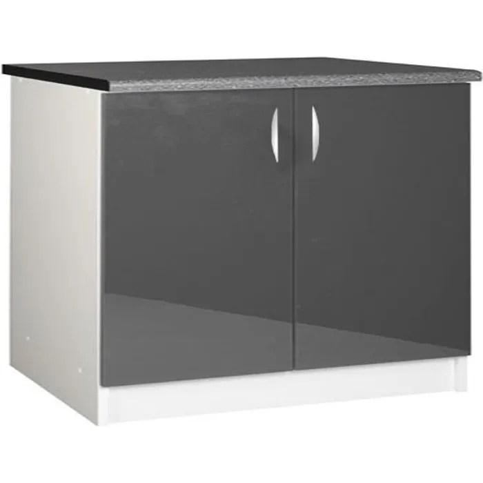 Meuble cuisine bas 120 cm 2 portes OXANE - Achat / Vente elements