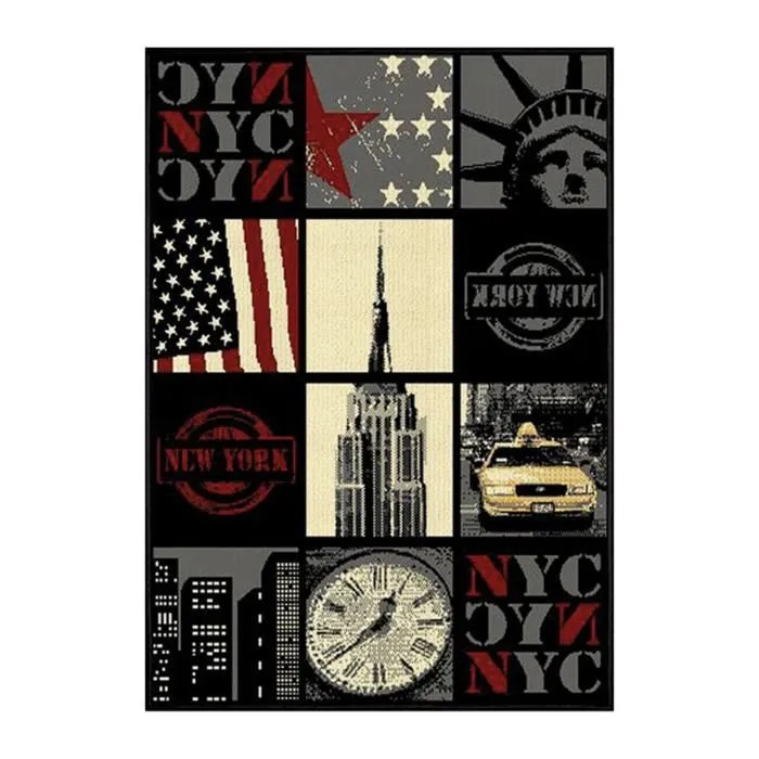 Tapis Grand Format New York Diaporama 120x170 Achat - Tapis Grand Format