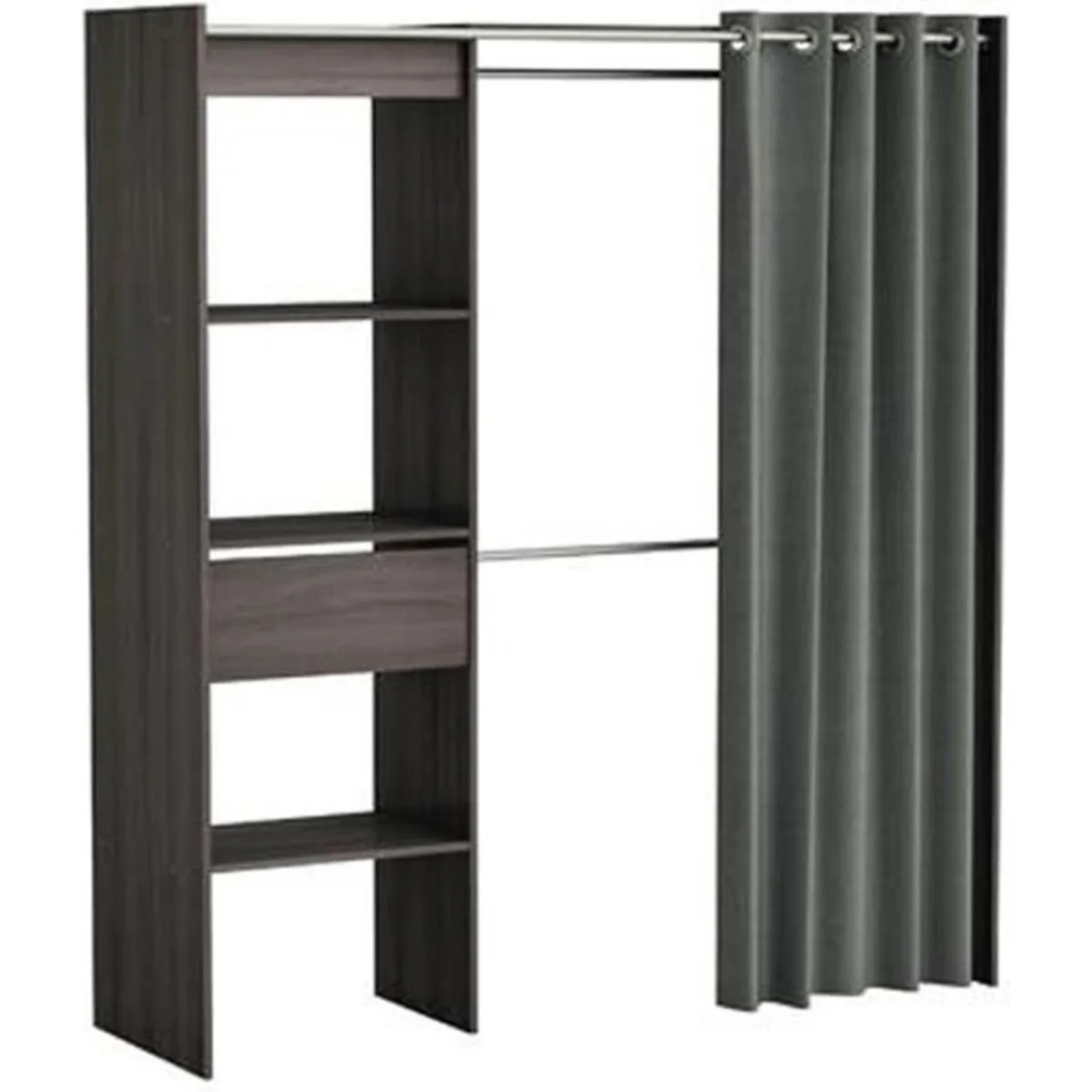 Armoire Dressing Cdiscount Dressing Avec Rideau Achat Vente Dressing Avec Rideau