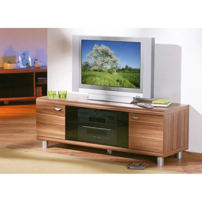 Meuble Tv Tres Fin Meuble Tv Ou Multimedia Finn Decor Noyer - Achat / Vente
