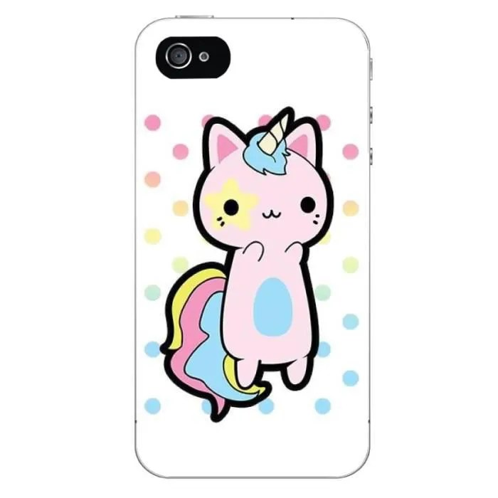 Wallpaper Iphone 3d Touch Coque Iphone 4 Chat Licorne Ref 2346 Achat Coque