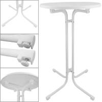 Table haute de proheim  70cm en blanc 110 cm de hauteur ...