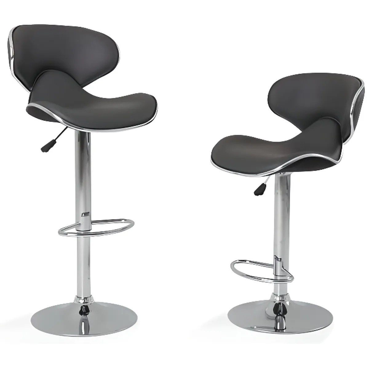 Charly Lot De 2 Tabourets De Bar Noirs Tabouret Bar Lot Achat Vente Pas Cher