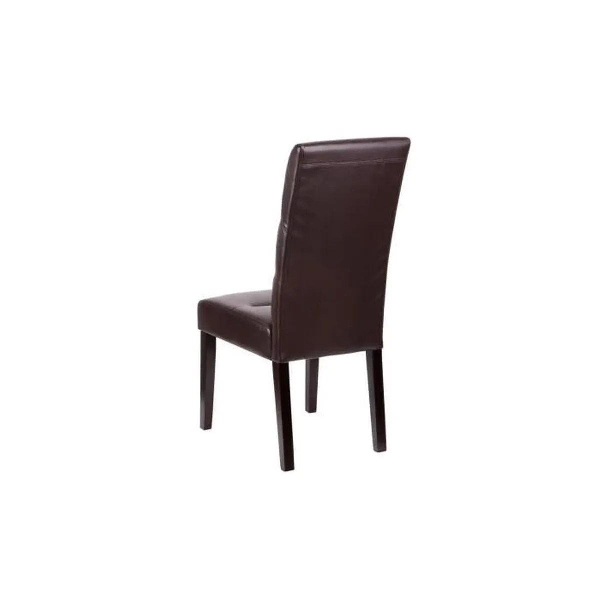 Lot De 6 Chaises Marron Daphné Lot 4 Chaises Marron