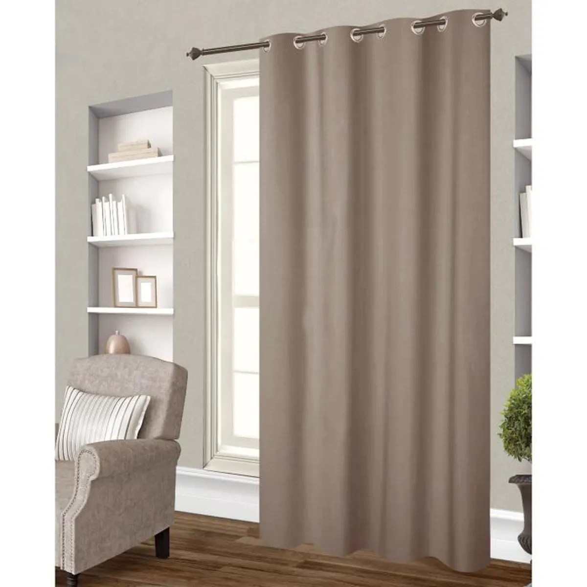 Rideau Taupe Opaque Rideaux Taupe Occultant Achat Vente Pas Cher