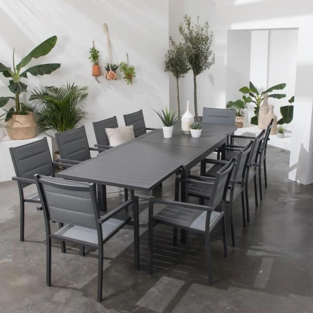 Chaise Salon De Jardin Gris Anthracite