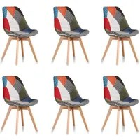Lot De 6 Chaises Scandinaves Lot De 6 Chaises Scandinaves Patchwork - Prague - Achat