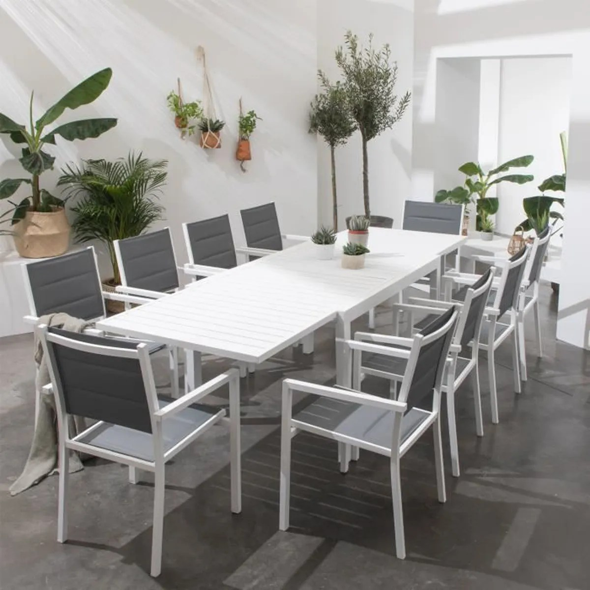 Salon De Jardin Extensible | Table Jardin Aluminium Full Size Of ...
