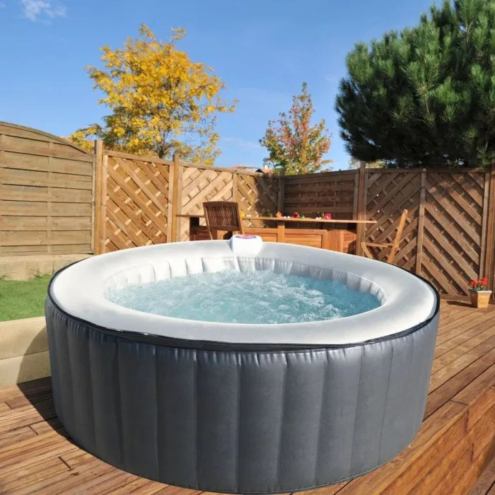Spa Exterieur Gonflable Sunbay Spa Rond Gonflable 4 Places - Achat / Vente Spa