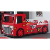 FUN Lit enfant camion pompier rouge - Achat / Vente lit ...