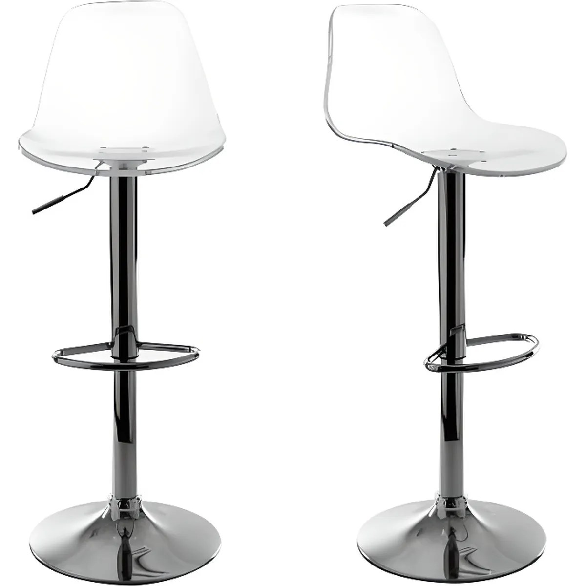 Tabouret De Bar Plastique Transparent Miliboo Tabouret De Bar Design Transparent Lot De 2 Galileo