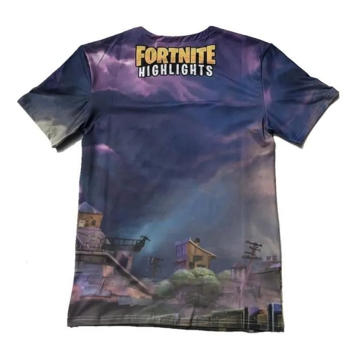 Meuble Tv Cdiscount Noir 3d T-shirt Femme Fortnite Battle Royale Violet Violet