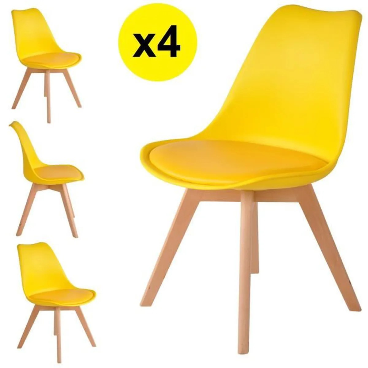 Lot Chaise Scandinave Chaise Scandinave Jaune Achat Vente Chaise Scandinave Jaune