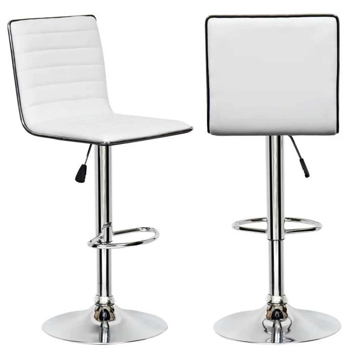 Lot 6 Tabourets Bar Lot De 2 Tabourets Blanc Et Noir Design Sofia Achat