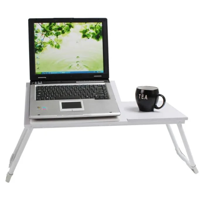 Bureau Zito Support Table De Lit Pour Ordinateur Portable Blanc