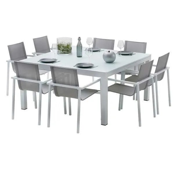 Table Salon Chaise Ensemble Table Et Chaises De Jardin Extensibles Carre